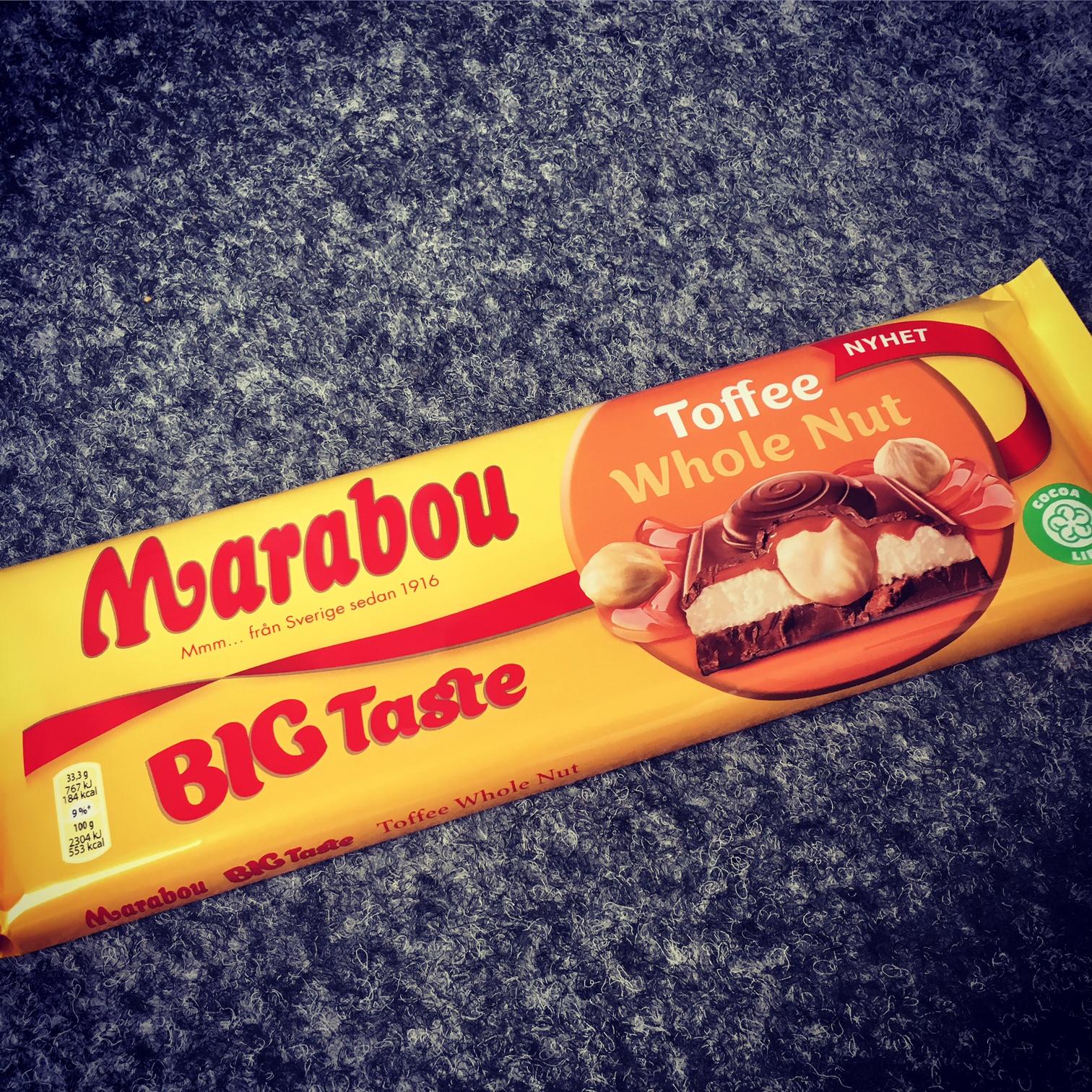 Marabou Big Taste Toffee Whole Nut