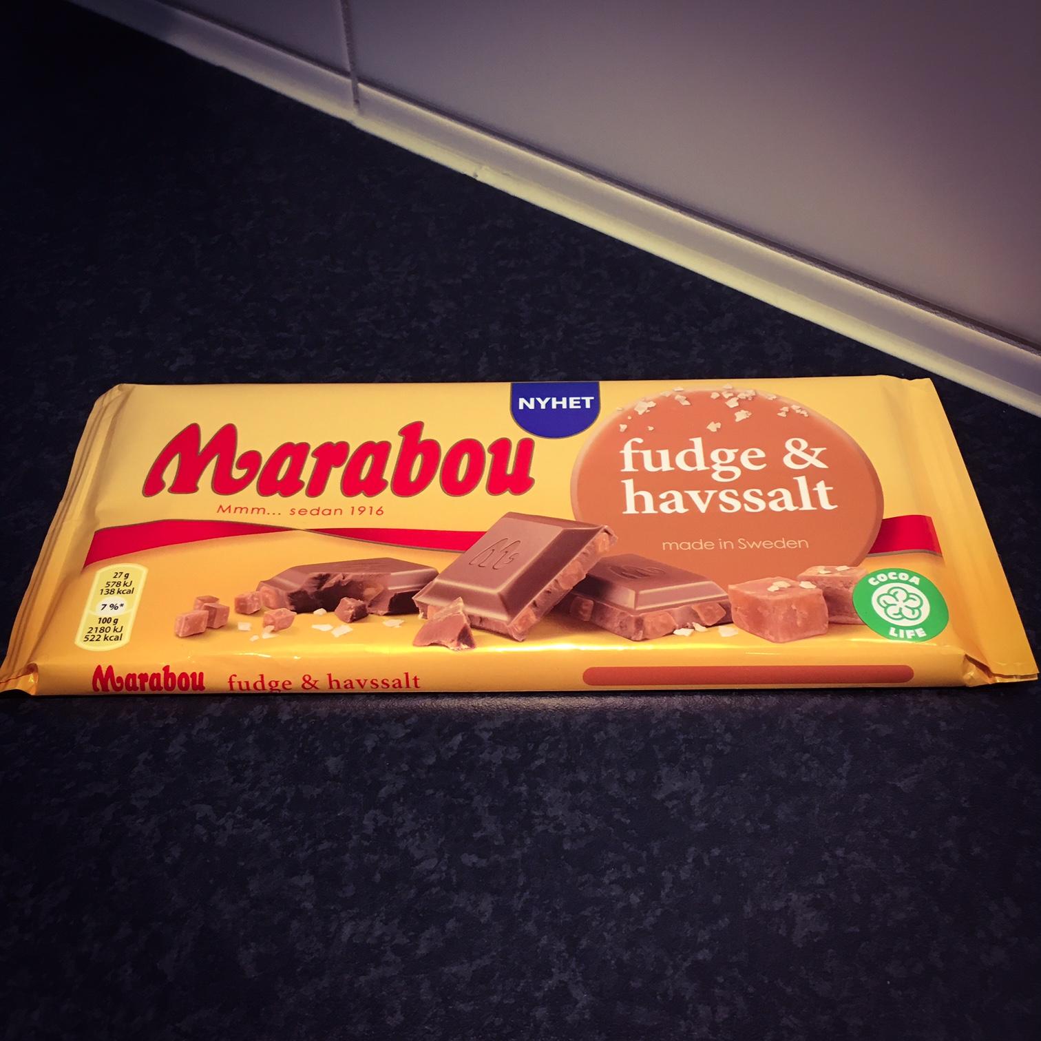 Marabou Chokladkaka Fudge & Havssalt