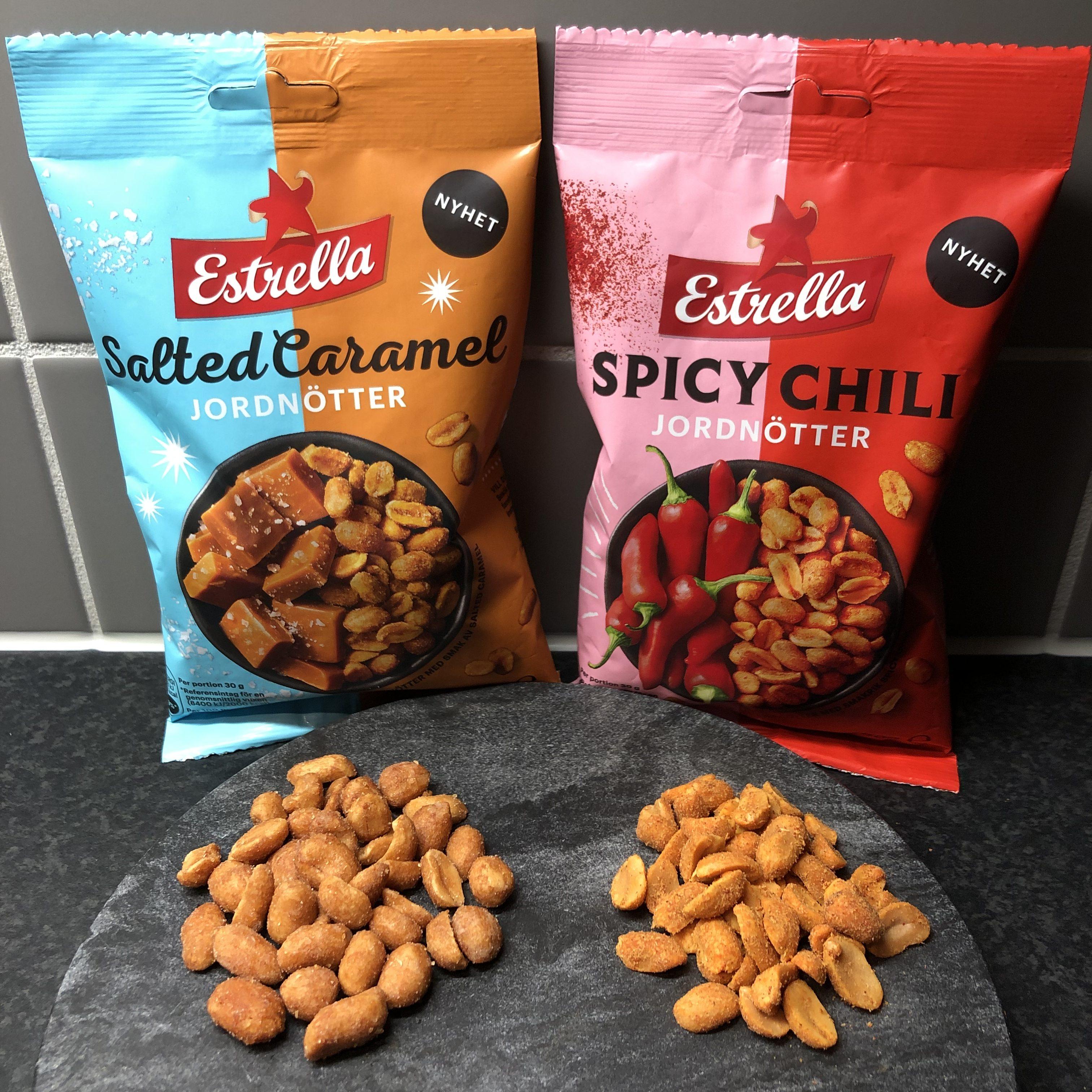 Estrella Jordnötter Salted Caramel och Spicy Chili